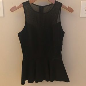 Intermix Black Peplum Top